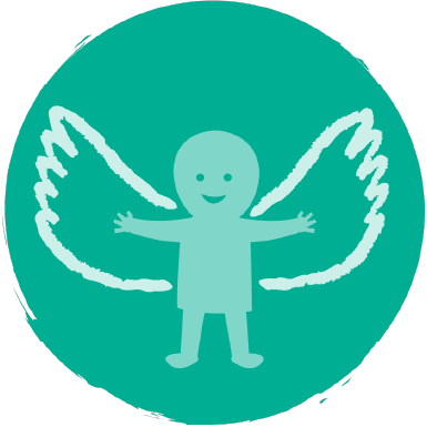 Icon of a child with wings