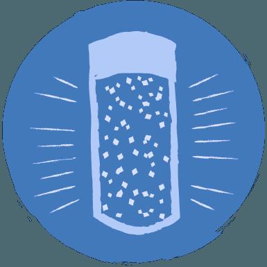 Icon of a glitter jar